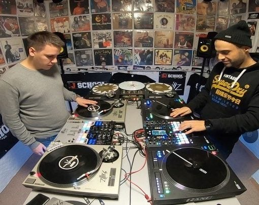 In my dj school...