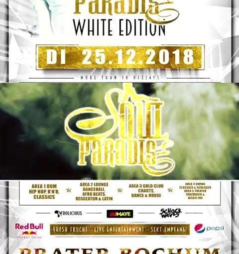 Weiße Weihnachten gibt's morgen in Bochum  All White Party im Prater mit dem